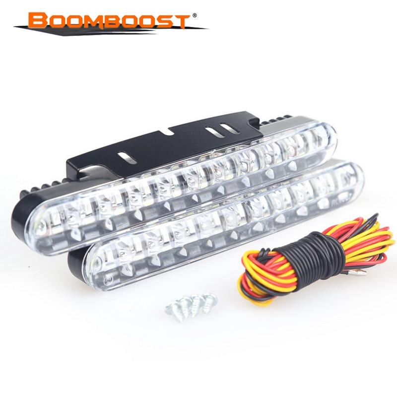 2 uds 12W LED brillante luz diurna 2X30 LED DRL para coche Universal lámpara de conducción luces de señal de giro lámparas externas