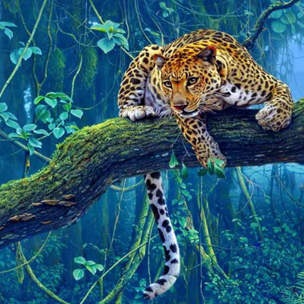 5D Animal Jaguar Full Drill Diamond Painting Kits 30*30cm Home Art Crafts Decorations Bedroom Living Room Wall Decor Painting