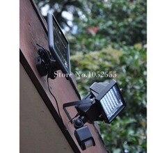 Lumière de jardin de LED extérieure actionnée solaire chaude (perles de lumières de 60 LED) lampe de projet PIR capteur de mouvement de corps projecteurs projecteurs lampes