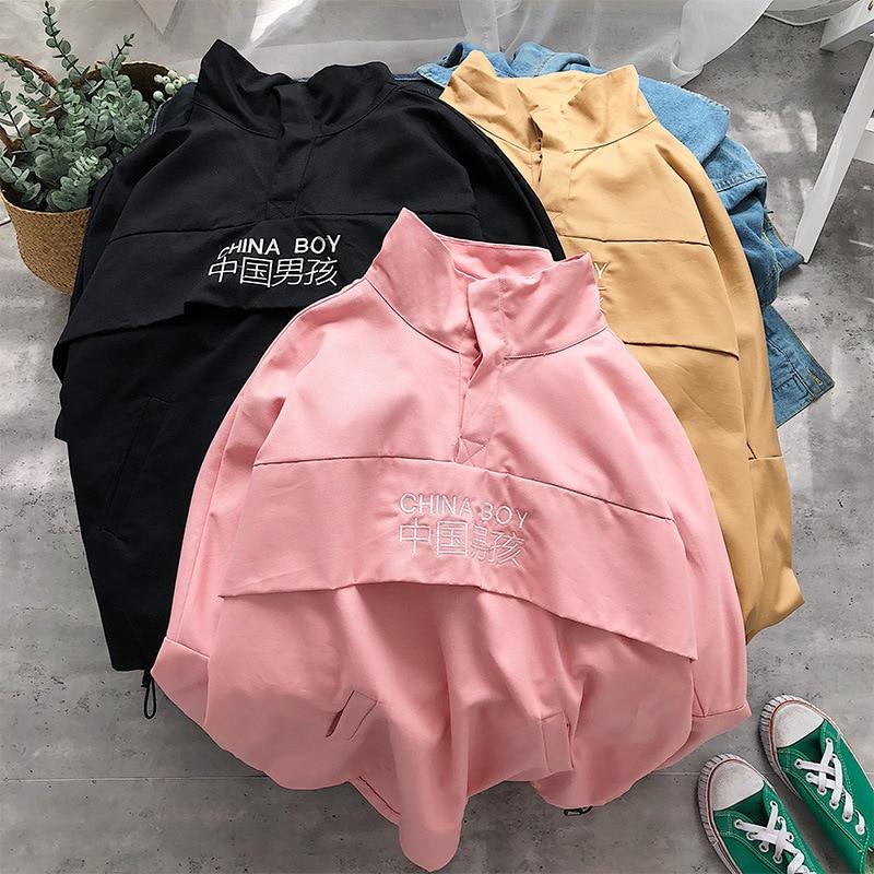 Chaquetas con capucha para hombre, nuevo de retazos, Color bloque, Jersey, chaqueta, chándal de moda, abrigo, ropa informal estilo hip hop, chaqueta para hombre