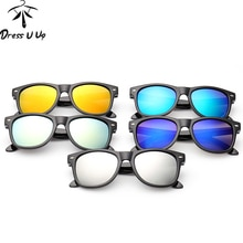 DRESSUUP Vintage Baby Boy Girls Kids Sunglasses Coating Sunglasses Children Sun Glasses Oculos De So