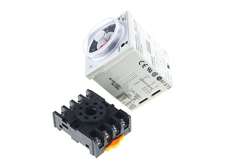 H3CR-A8 8 pin AC/DC 24-240 v relé de tempo 24-240VAC/24-240VDC temporizador