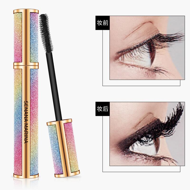 Pestañas rímel impermeable completo profesional maquillaje largo rizado pestañas gruesas extender cosméticos brillante ESTRELLADO