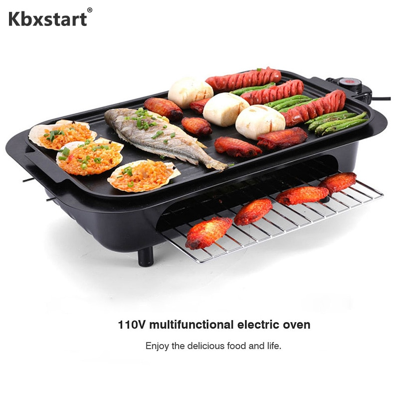 Máquina Eléctrica de Kebab para barbacoa múltiple, plancha sin humo, equipo de...