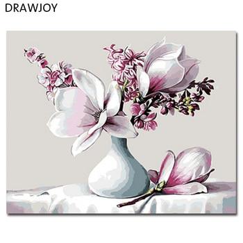 Картина DRAWJOY по номерам, живопись цветами своими руками, масляная живопись по номерам 40*50 см GX8843