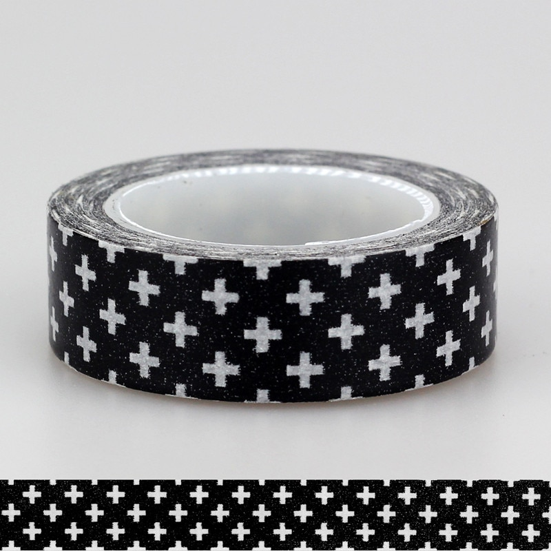 1x15 мм Adehive лента черный крест звезды шевроны набор печать скрапбукинг рукоделие