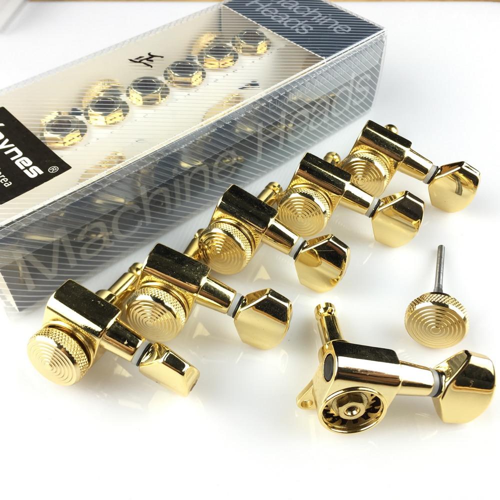 Новые золотые тюнеры для электрогитары с блокировкой, головки для электрогитары, тюнеры, JN-07SP, блокировка, тюнинговые колышки (с упаковкой)