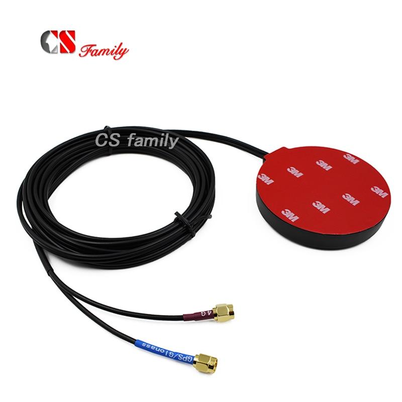 M2M IOT LTE GPS combo antena de la red 4G LTE GPS GLONASS antena externa W/sma macho 3m cable LTE CAT-11/GPS/2 en 1 Antena 1pc