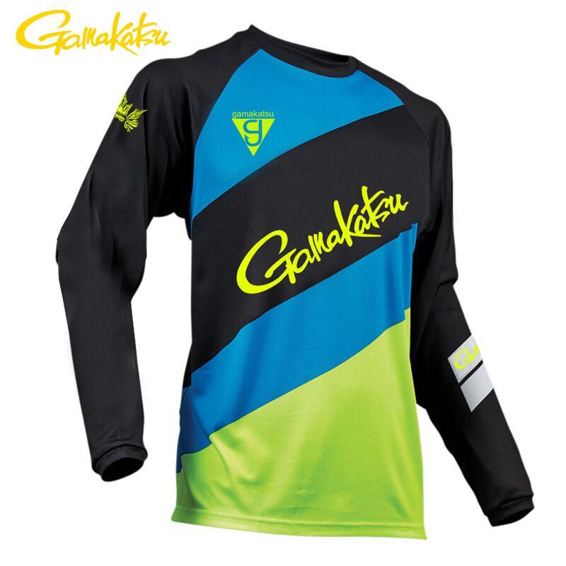2019 Gamakatsu Anti-sudor pesca camiseta Outroor pesca ropa deportiva de ciclismo ropa protección solar camiseta de pesca transpirable