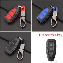 Carbon Fiber Remote Control Car Key Smart Remote Key Case Cover for Ford Fiesta Focus 3 4 MK3 MK4 Mondeo Ecosport Kuga Focus ST