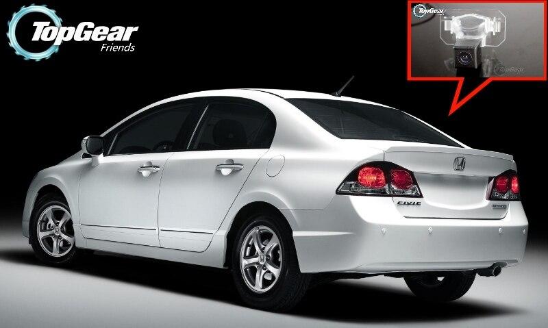 Cámara de coche para HONDA Civic 8 MK8 2006 ~ 2011 cámara trasera de alta calidad para uso de ventiladores de engranaje superior CCD + RCA