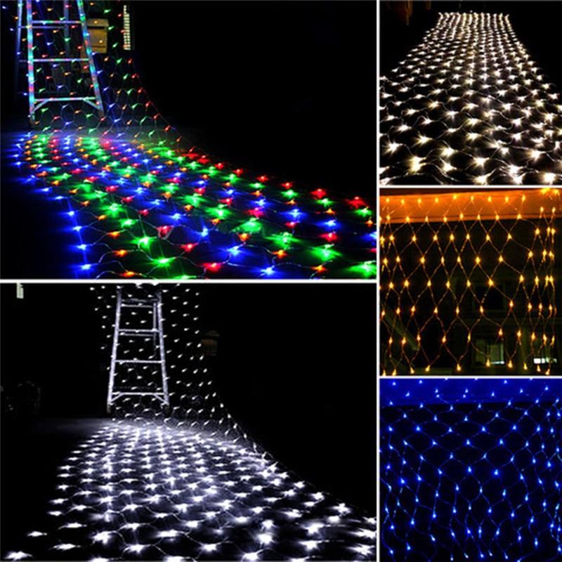 3x2 m 1,5 m X 1,5 m Weihnachten Girlanden LED String Weihnachten Net Lichter Fee Xmas Party Garten hochzeit Dekoration Vorhang Lichter