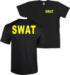 SWAT Front  Back T-Shirt Huge  LETTERS   hip hop  streetwear  funny t shirts