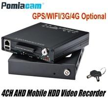 DHL-système denregistrement vidéo téléphone portable   HDVR9804, 1080P H.264 4CH, AHD HDD, GPS, capteur WIFI G, 3G 4G HDD, pour véhicule Bus