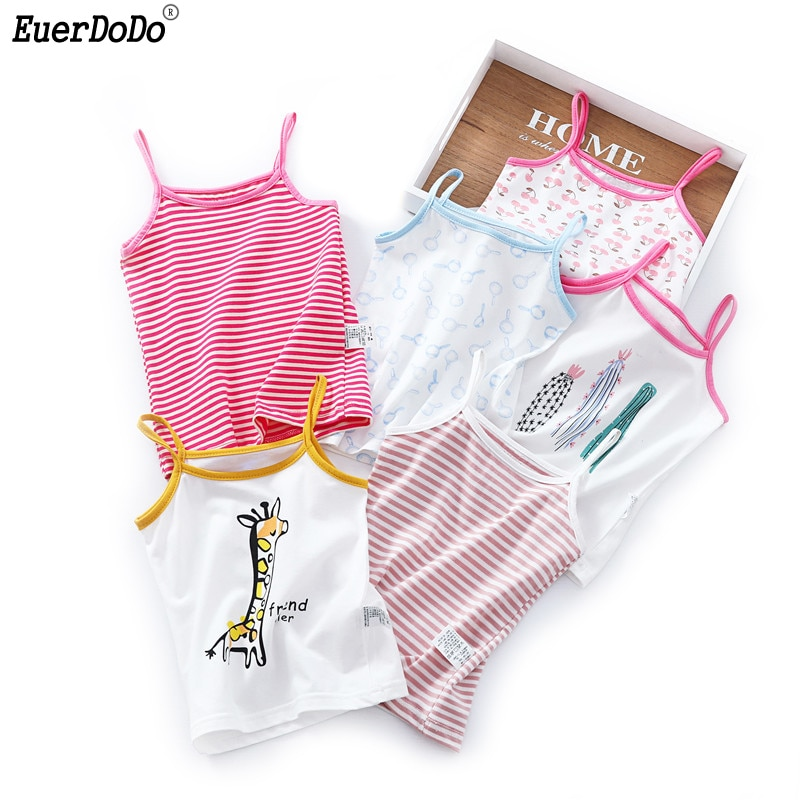 Детское нижнее белье, летняя хлопковая майка для девочек, нижняя рубашка, детский топ для девочек 2, 4, 6, 8 лет