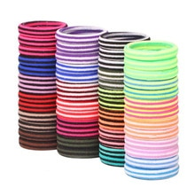 72Pcs/Lot Striped Girl Hair Band Holders Elastic Rubber Bands Accessories  Hair Ties Gum Maker Headband Headwear Scrunchies