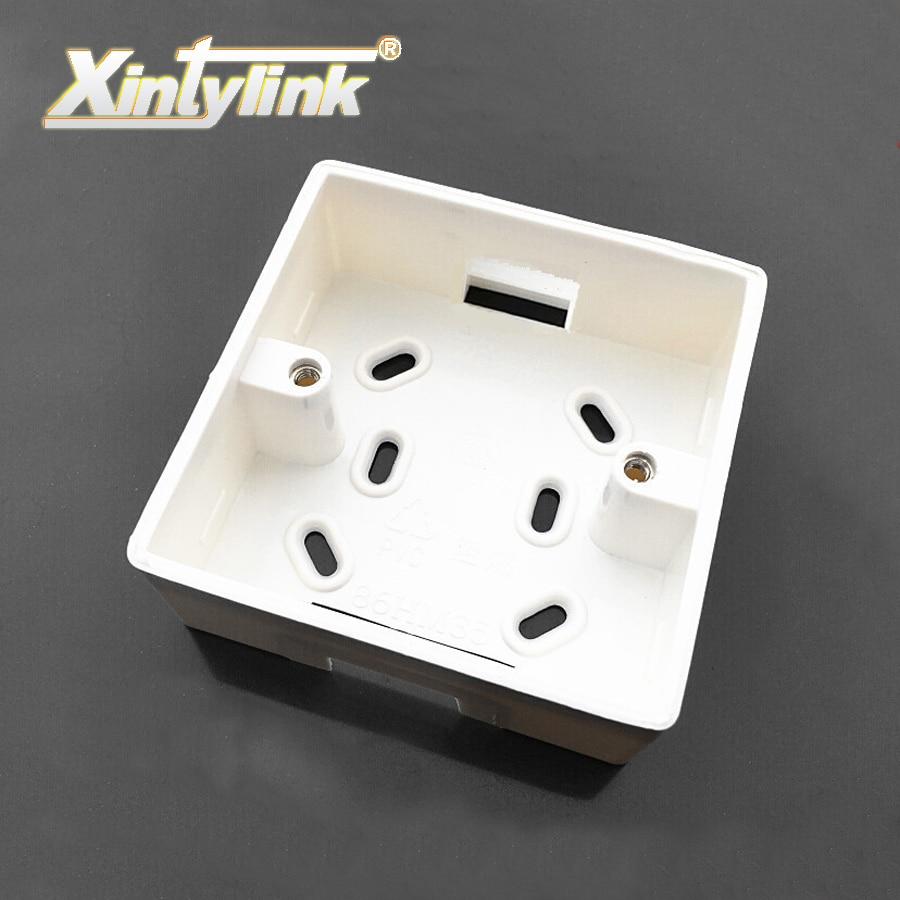 Xintylink rj45 jack Лицевая панель, задняя коробка rj11, лицевая панель rj12, настенная розетка, внешняя Монтажная распределительная коробка, огнеупорный ПВХ
