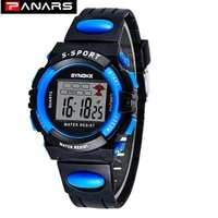 panars kid digital watches sports colorful clocks chronograph stop alarm watches week display clock wrist watches for children