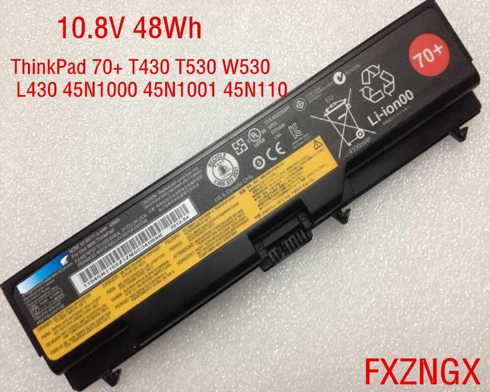 10.8V 48Wh Genuine Battery for Lenovo ThinkPad 70+ T430 T530 W530 L430 45N1000 45N1001 45N1107
