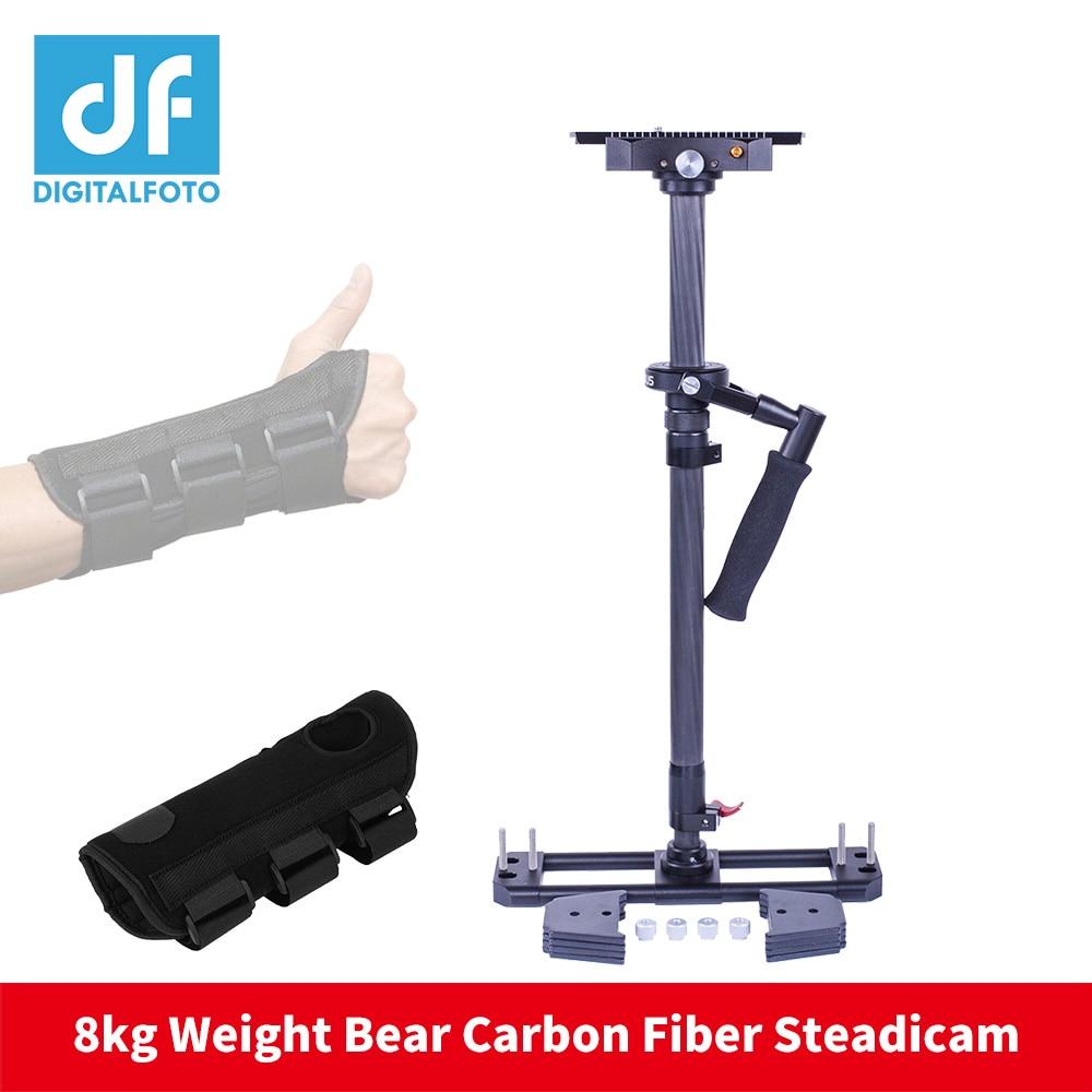 Famoso estabilizador de cámara de mano de fibra de carbono 8KG oso DSLR video steadicam steadycam para Nikon Canon VS Glidecam HD2000
