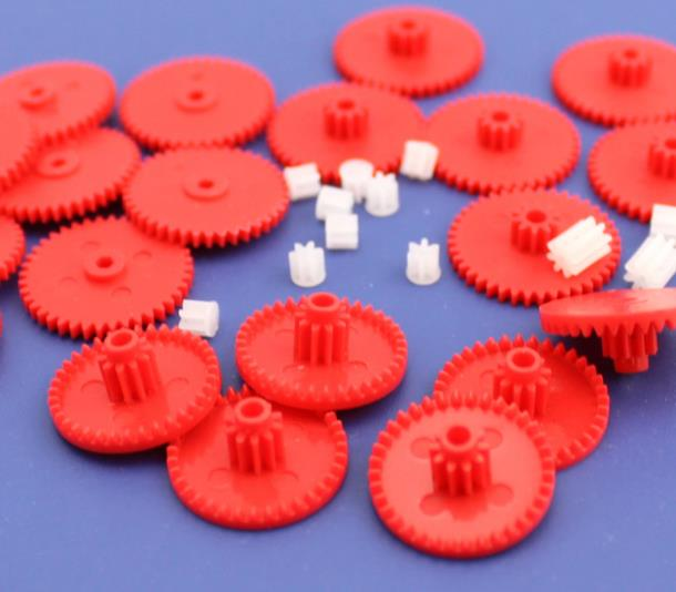 10pcs/lot 0.4 Modulus Plastic Gears Colours Gear DIY Model and Toy Making Small Gear Bag