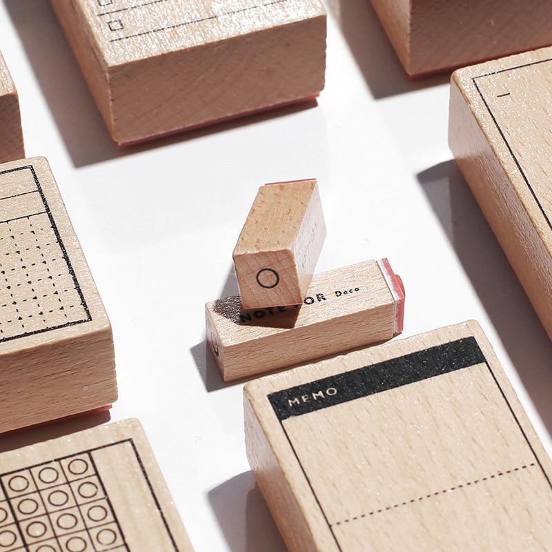 TUNACOCO Inkpad Stamp Seal Sighnet planner kawaii wooden stamp Bullet Journal DIY Crafts Qt1710073