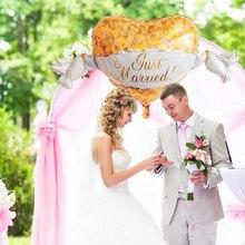 Ballon géant en aluminium pour décoration de mariage, 1 pièces, à hélium, pour décor de fête, anneau en diamant, fournitures de fête de mariage