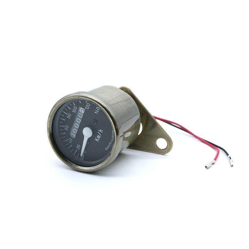 Velocímetro mecânico de bronze do tacômetro do odômetro do diodo emissor de luz para a motocicleta universal