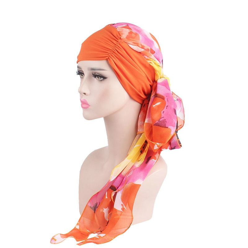 Женская шифоновая шляпа Hijabs, женские аксессуары для волос, мусульманский шарф, кепка для выпадения волос, эластичная ткань, внутренние хидж...