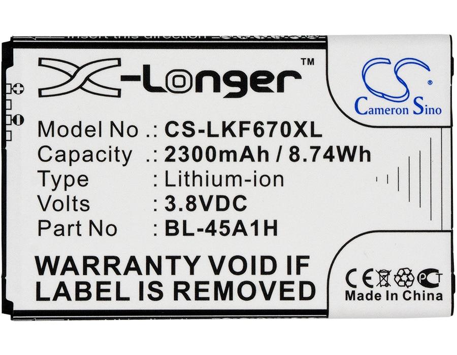 Аккумулятор Cameron Sino, 2300 мАч, для LG F670,F670K,F670L,F670S,K10,K410,K420N,K425,K428,K430,K430N,KG10,L61AL, L62VL, Q10