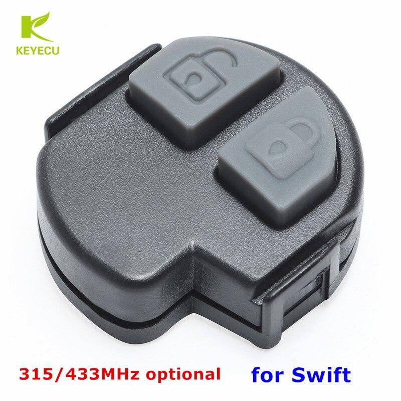Botão remoto novo 315/433 mhz da placa fob 2 do pwb da substituição de keyecu para suzuki swift 2005-2010