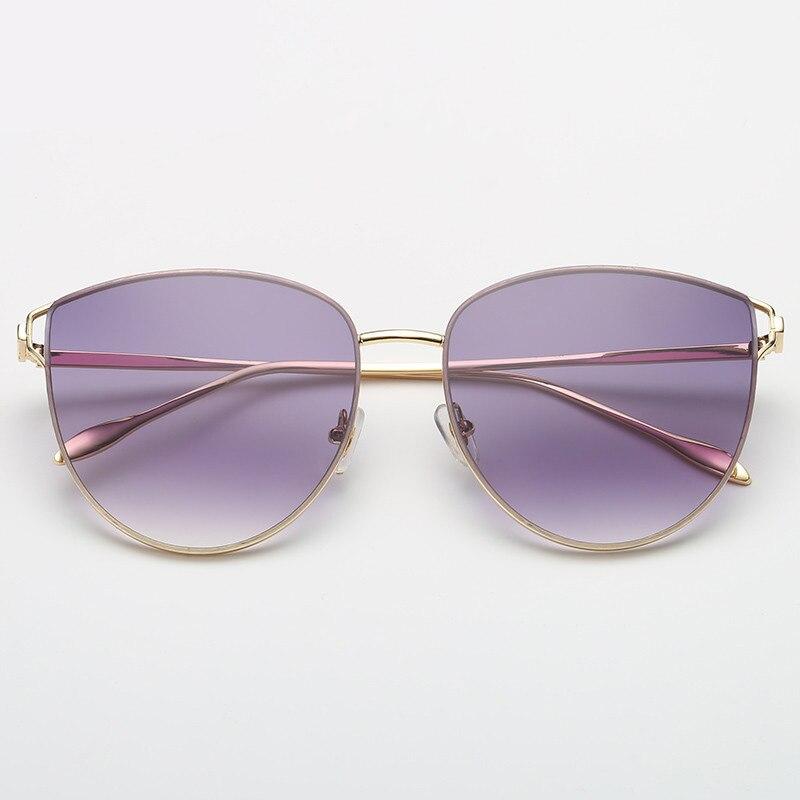 Lunettes de soleil UV400 pour femmes   Marque de luxe, Design Cat, à la mode classique, lunettes de soleil de pilote daviation, lentille sans monture, monture en alliage
