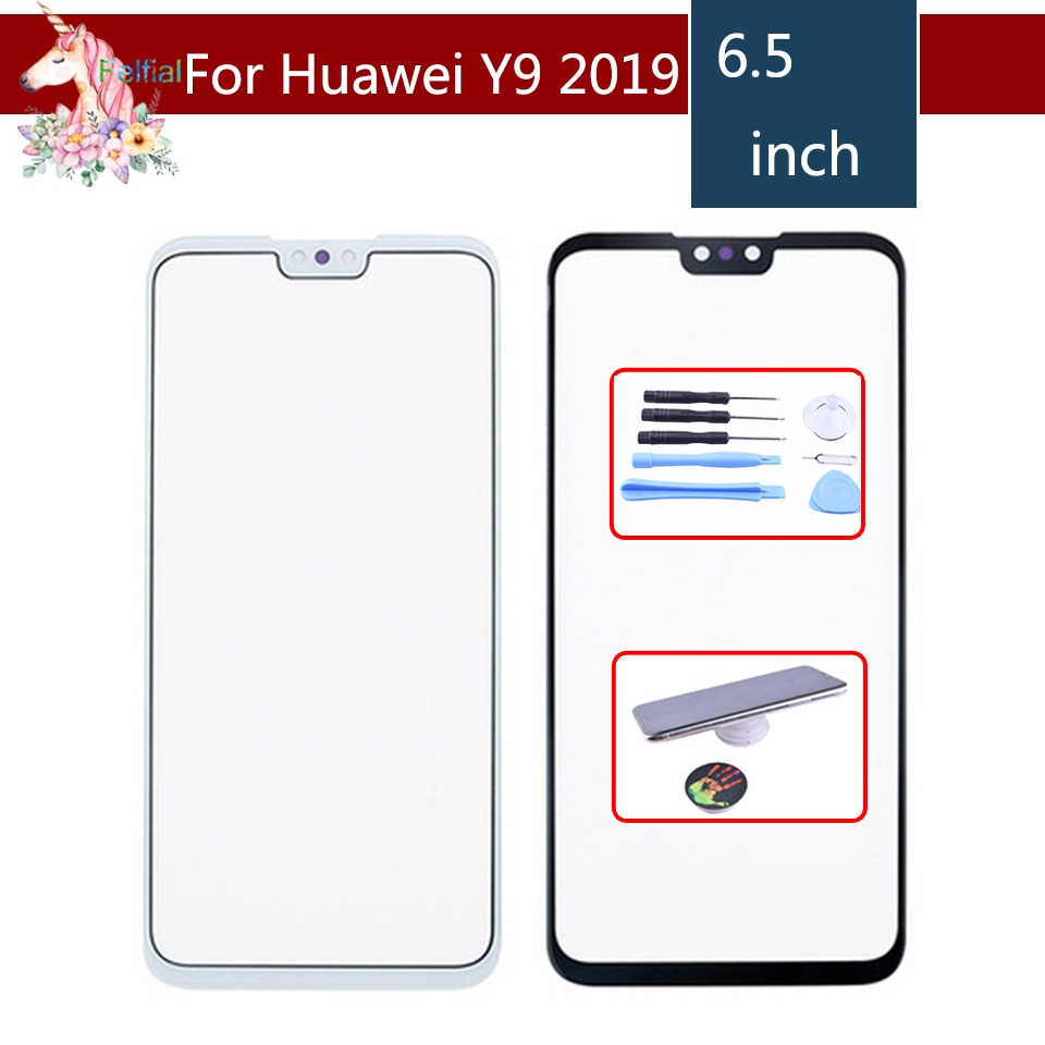 10 unids/lote para Huawei Y9 2019 Enjoy 9 Plus pantalla táctil Panel táctil Sensor digitalizador vidrio frontal exterior sin LCD reemplazo