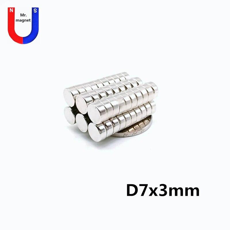 1000 pces 7x3mm ímã de neodímio disco n35 7*3 permanente pequeno redondo super poderosos ímãs magnéticos fortes para artesanato 7 mm x 3 mm
