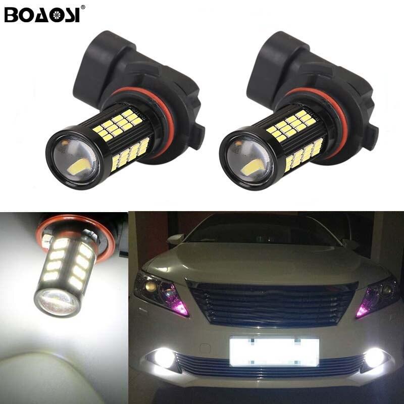 BOAOSI 2x Led H8 H11 Car Fog Driving Lamp Light Bulb For Toyota Prius Camry 2007-2014 Corolla 2011-2014