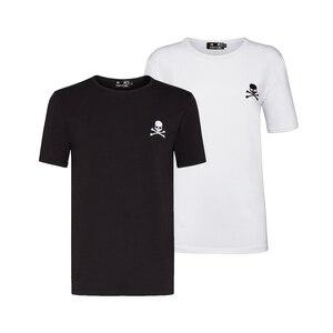 DUYOU Мужская Дизайнерская футболка для мужчин с короткими рукавами 2 шт. в комплекте, футболка для мужчин из плотного хлопка, мужские трусы, топ летние футболки футболка для мужчин брендовая одежда Homme