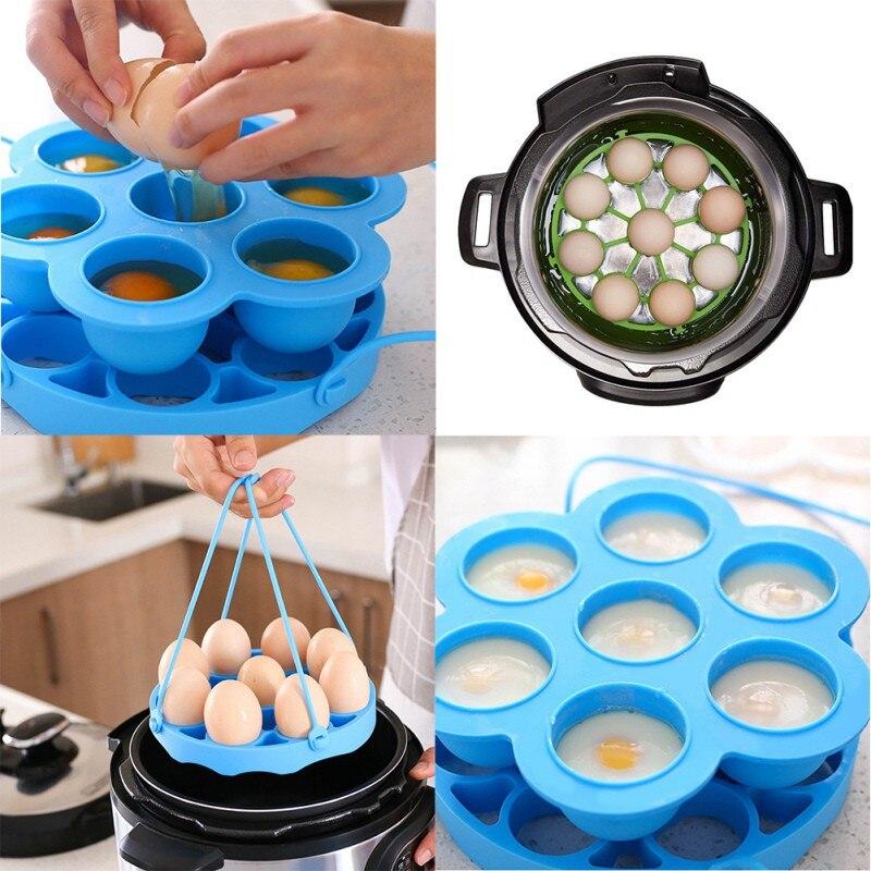 Utensilios de cocina máquina de hacer panqueques ilicone huevo furtivo estante vaporizador recipiente molde para huevos anillos olla caldera