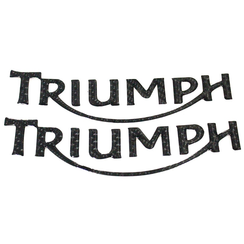 "Emblema da motocicleta do carbono preto decalque 3d tanque roda logotipo triumph ""adesivo para todos triumph daytona 600/650/765/675/675e/"