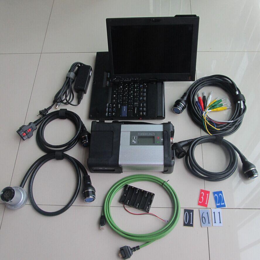 Conexión wifi star diagnosis mb star c5 sd con software 2020,06 multi idiomas y portátil con pantalla táctil x200t listo para usar
