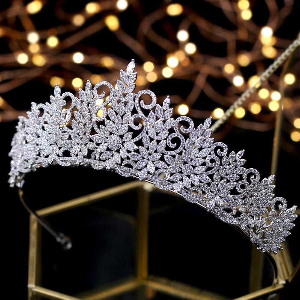 Increíble diadema de Reina retro, coronas de boda, joyería para el cabello...