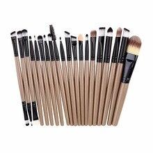 20pcs A set of Brushes for Make up Pro Blending Eyeshadow Powder Foundation Eyes Eyebrow Lip Eyeliner Makeup Brush Cosmetic Tool