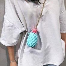 Women Summer Bag Designer High Quality Womens Pineapple Jelly Pack Silicone Messenger Bag Small Shoulder BagWomen 2019 femme