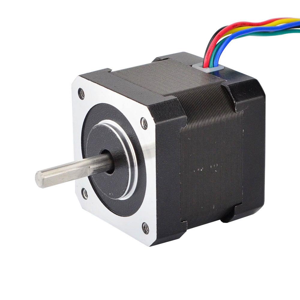 Nema 17 Motor paso a paso 42 Motor 6 lleva Unipolar 39mm 26Ncm 1.2A para DIY CNC 3D impresora Motor