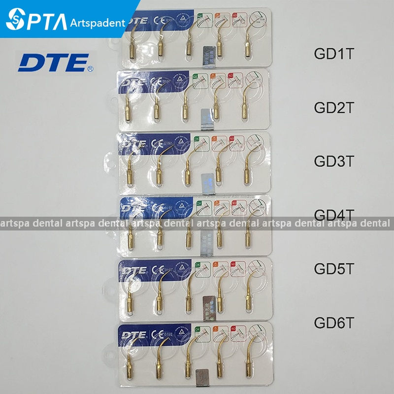 Puntas de Perio para escalamiento Dental DTE original, 5 uds., para Satelec DTE NSK, punta de escalador ultrasónico, blanqueamiento Dental