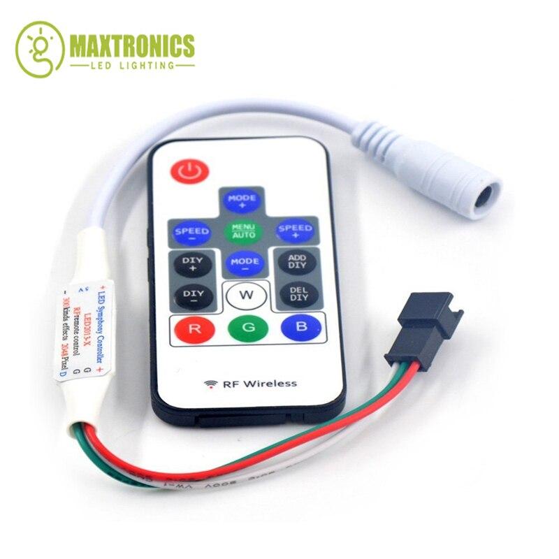 Беспроводная Светодиодная лента WS2812B 1 шт. RF14 клавиши RGB волшебный цвет контроллер