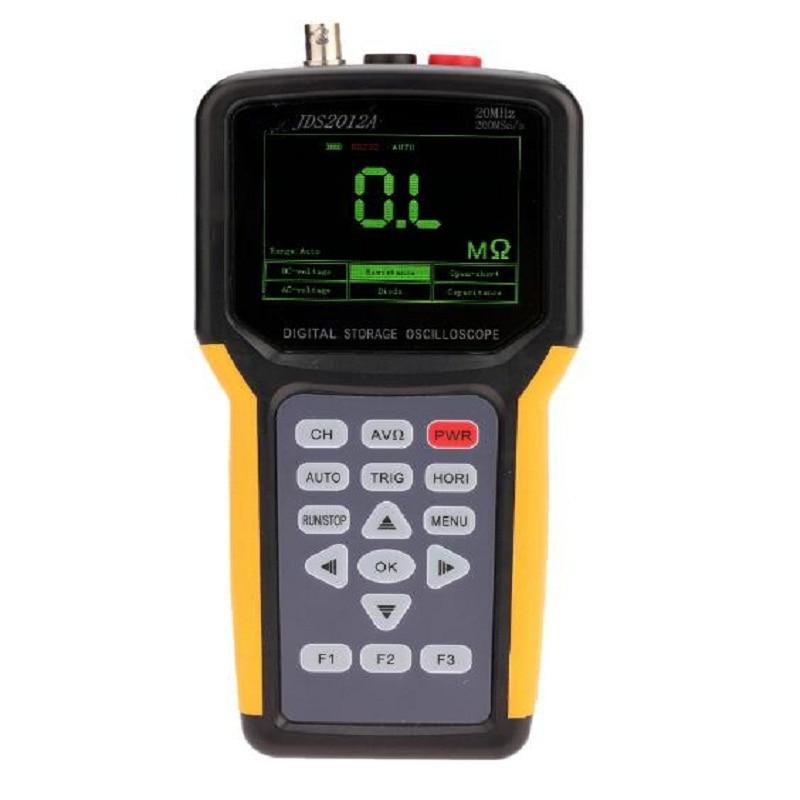 Hot Original Alta Precisão Handheld JDS2012A Osciloscópio Portátil Hugh Qualidade Com 4000 Multímetro de 1 Canais 20 MHz 200MSa/s