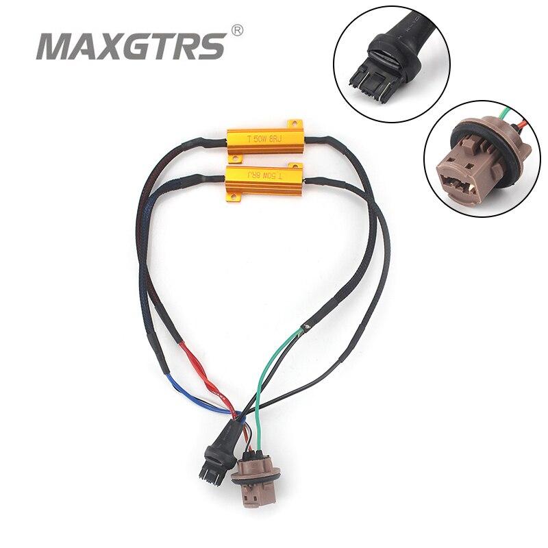 2x S25 T20 1156 BA15S   1157 7440 7443 3156 3157 50W, résistance à charge unique ou Canbus erreur, câblage gratuit, annuleur de décodeur