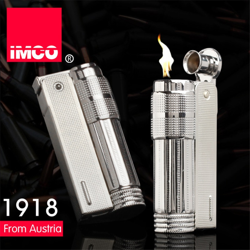 Original IMCO Lighter Old Gasoline Lighter Genuine Stainless Steel Cigarette Lighter Cigar Fire Briq