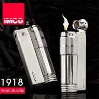 original imco lighter old gasoline flint lighter windproof stainless steel cigarette petrol oil lighter inflated gadgets man