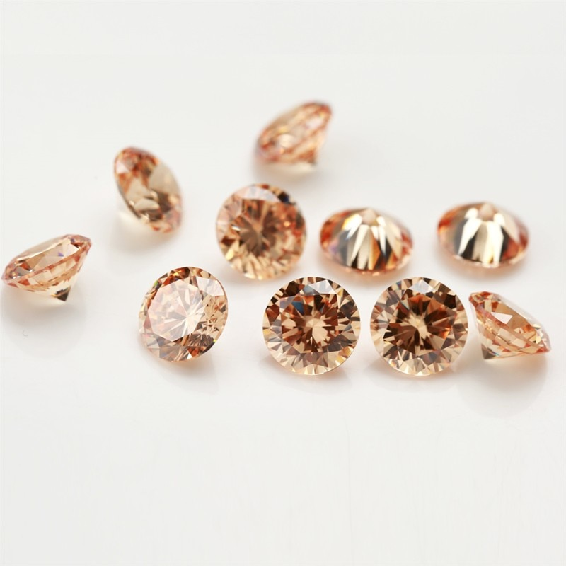 1mm~1.5mm Champagne cz 1000 pcs  factory wholesale AAAAA cubic zirconia gemstone for jewelry